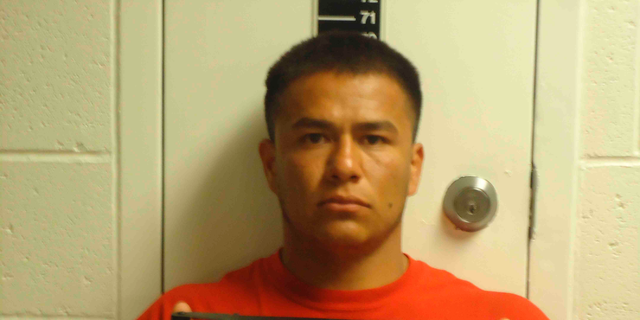 This photo provided by the Sanpete County Jail in Manti, Utah, shows Ruben Hernandez. Prosecutors say Hernandez, an Idaho prison inmate sent to help fight a wildfire, raped a woman who was also working to support firefighters in Utah. Sanpete County Attorney Kevin Daniels said Tuesday, Sept. 4, 2018, the woman had rejected several advances from Hernandez before the Aug. 29 assault. Hernandez was charged with felony rape. (Sanpete County Jail via AP)
