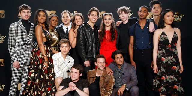 "FILE -- Cast of ""13 Reasons Why""."