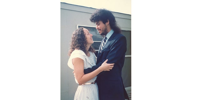 Marc Breault and Elizabeth Baranyai on their wedding day.