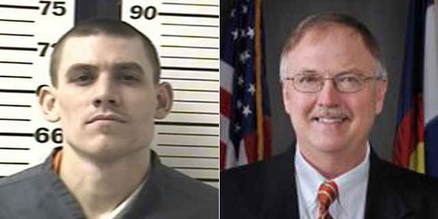 Former Colorado inmate Evan Spencer Ebel, left, is suspected in the murder of the chief of Colorado prisons, Tom Clements, right. Ebel was killed in a shootout with authorities in Texas on March 21, 2013.