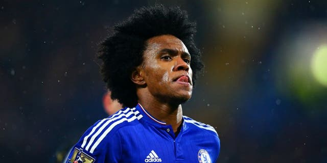 LONDON, ENGLAND - FEBRUARY 13: Willian of Chelsea is seen during the Barclays Premier League match between Chelsea and Newcastle United at Stamford Bridge on February 13, 2016 in London, England. (Photo by Clive Mason/Getty Images)