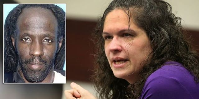 """Dec. 7, 2012: Dorice """"Dee Dee"""" Moore, seen talking with her defense attorney, was convicted of murdering Florida lottery winner Abraham Shakespeare, inset."""