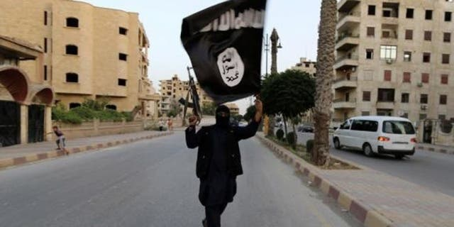 The flag of Islamic State group