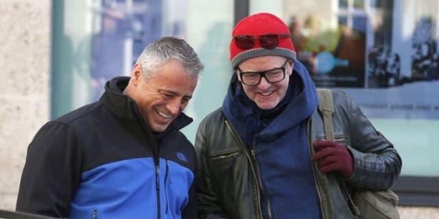 Chris Evans, right, with Matt LeBlanc in February