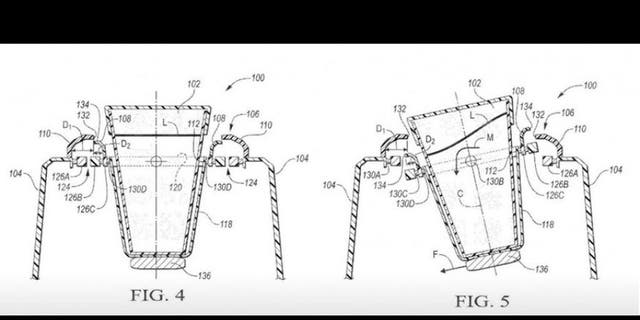 Ford has also patented a self-leveling cupholder, which might go well with the table