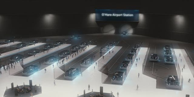 The Chicago system will connect terminals at O'Hare airport and in the city's Loop district.