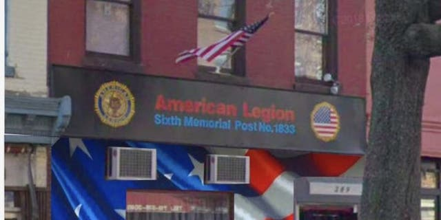 The American flag mural artist Scott Lobaido plans to paint outside the American Legion post in Park Slope, Brooklyn.