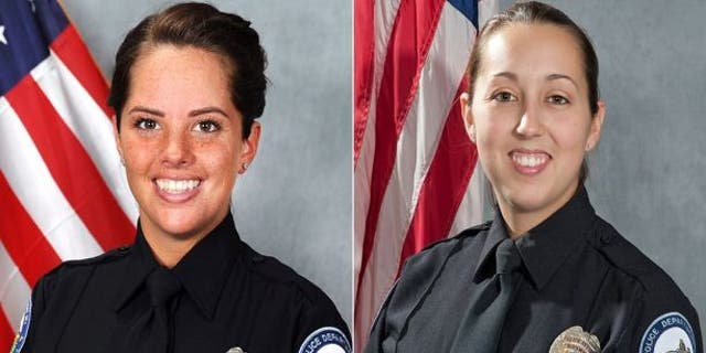 Courtney Brown, left, and Kristee Wilson, right, were fired from the Roswell Police Department in Georgia on Thursday.