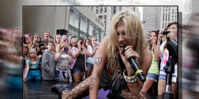 Aug 2010: Ke$ha performs. (AP)