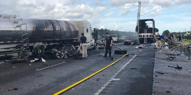 The crash happened on Interstate 12 around 4 p.m. in St. Tammany Parish.