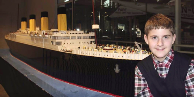 Brynjar was just 10-years-old when he completed the replica.