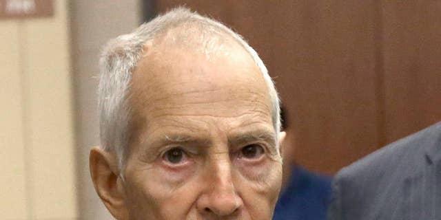New York City real estate heir Robert Durst leaves a Houston courtroom onAug. 15, 2014.
