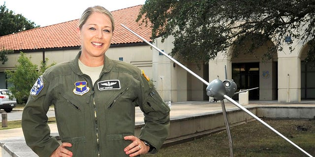 Tech. Sgt. Courtney is photographed at the 558th Flying Training Squadron at Joint Base San Antonio-Randolph, Texas, July 26, 2017.