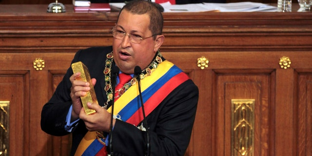 The late Venezuelan President Hugo Chavez, addressing the National Assembly in Caracas in 2012.
