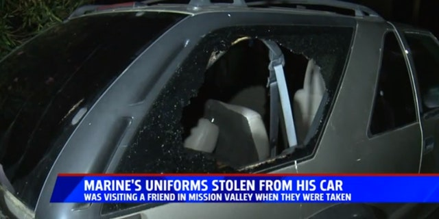 Hudson Columbe said he's hoping to recover his stolen military uniform.