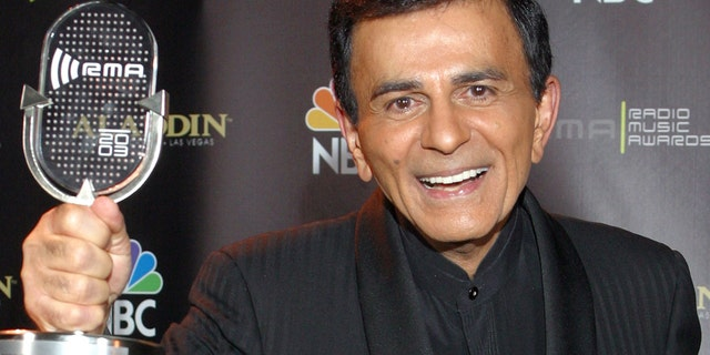 October 27, 2003.Casey Kasem poses for photographers after receiving the Radio Icon award during The 2003 Radio Music Awards in Las Vegas. Attorneys for Kasem's wife and one of his adult daughters told a Los Angeles judge on Friday, Dec. 20, 2013, that they have reached an agreement that will not require a court conservatorship.