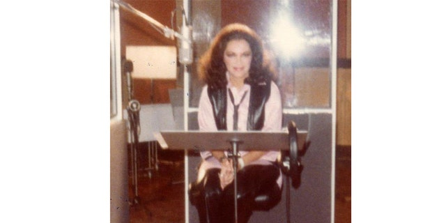 Connie Francis recording music in 1978 in London.