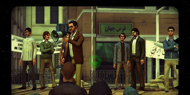 Players not only choose their own narrative through the game, they also complete actions like taking photgraphs of the protests.