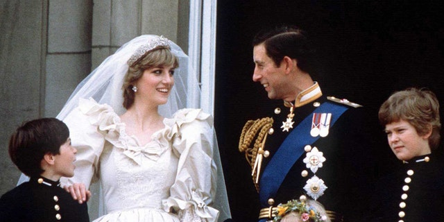 Prince Charles and Princess Diana on their wedding day.