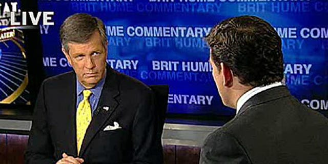 FOX News senior political analyst Brit Hume with host Bret Baier