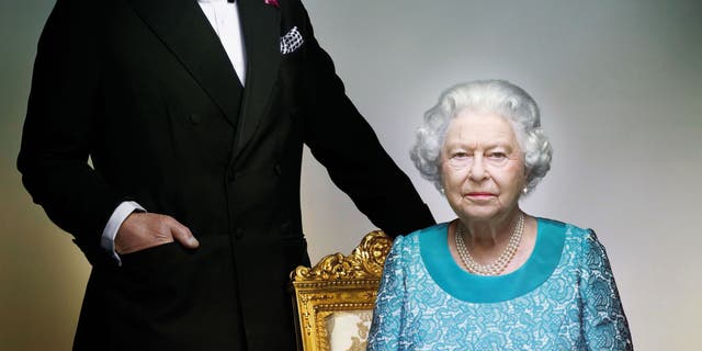 Britain's Queen Elizabeth II and Prince Charles.