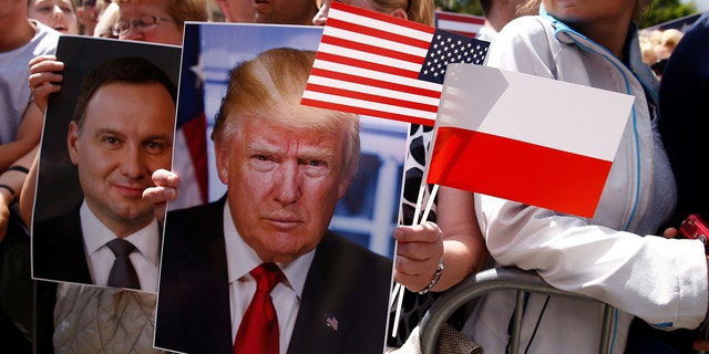 Trump embraces Poland, attacks Germany once again