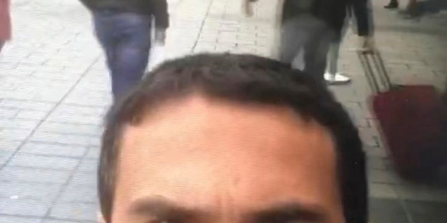A selfie from the man believed to be the attacker.