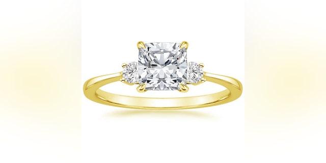 The Selene Diamond Ring features a classic three-stone look like Meghan Markle's.