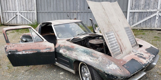 1963 Chevrolet Corvette parked in a garage for 45 years could be