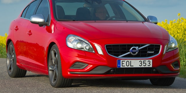 This is a stock photo of a Volvo S60 compact luxury sedan manufactured and marketed by Volvo, a Sweden-based company. It features a typical Swedish license plate.