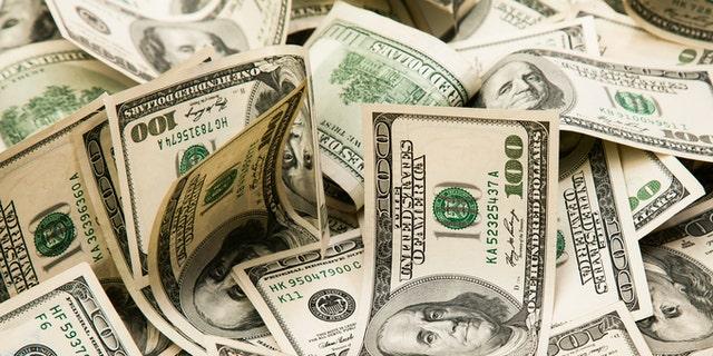Cash money background.