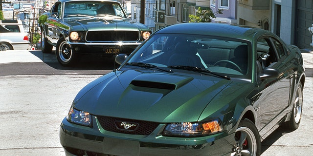 The 2001 Mustang Bullitt GT was Ford's first tribute tot he 1968 Mustang 390 GT movie car.