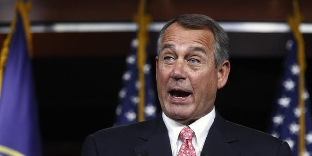 House Speaker John Boehner (R-OH) holds a news conference at the U.S. Capitol in Washington Dec. 11, 2014. (REUTERS/Jonathan Ernst)