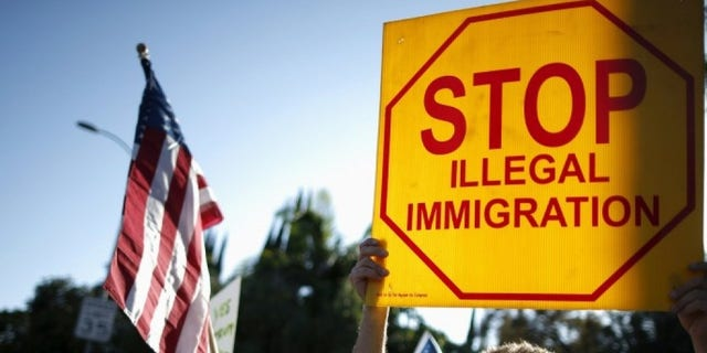 Illegal immigration proteste, Los Angeles, July 10, 2015. (REUTERS/Lucy Nicholson)