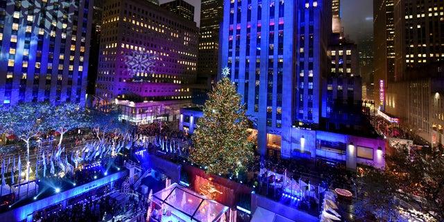 The Rockefeller Center Christmas Tree in 2015.