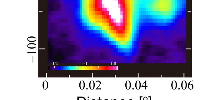 CO-0.40-0.22 seen in the 87 GHz emission line of SiO molecules.