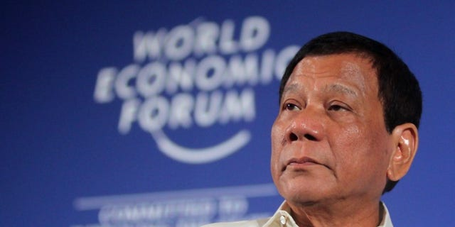 Philippine President Rodrigo Duterte attends the World Economic Forum on ASEAN in Phnom Penh