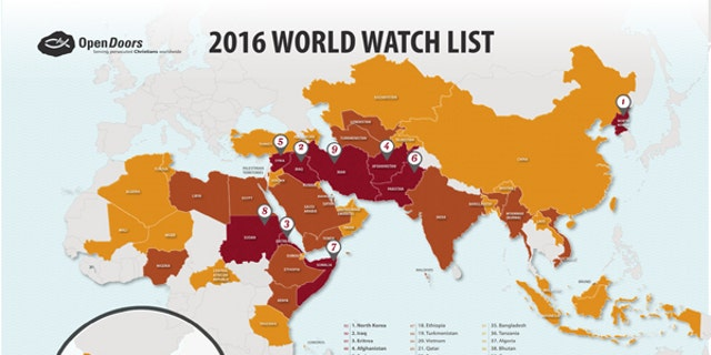 The World Watch List is a ranking of the top 50 countries where the persecution of Christians is most severe.