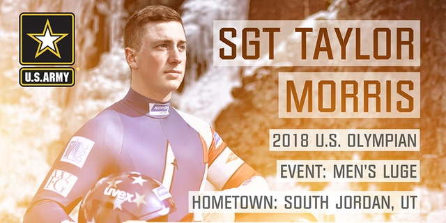 Sgt. Taylor Morris from South Jordan, Utah also is competing in singles Luge.