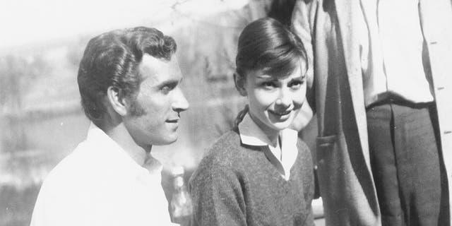 Peter Mark Richman with Audrey Hepburn.