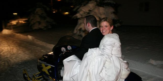 Heather and her husband Tony on the night of her wedding.