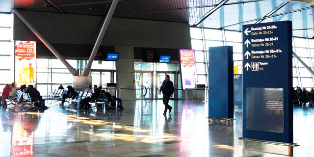 A young girl was able to evade security at Moscow's Vnukovo airport.