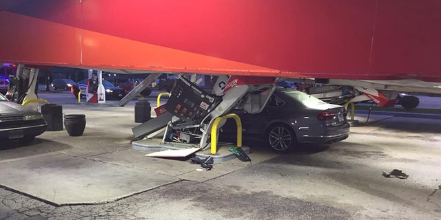 No injuries were reported in the canopy collapse.
