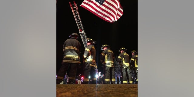 Firefighters gathered to pay respects to the slain Colorado deputy early Thursday.