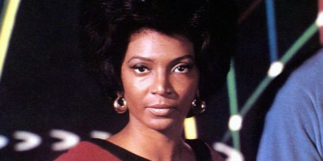 "Nichelle Nichols is seen as Lt. Uhura on ""Star Trek."" (Associated Press)"