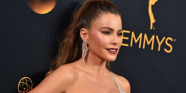 Sofia Vergara arrives at the 68th Primetime Emmy Awards on Sunday, Sept. 18, 2016, at the Microsoft Theater in Los Angeles. (Photo by Jordan Strauss/Invision/AP)