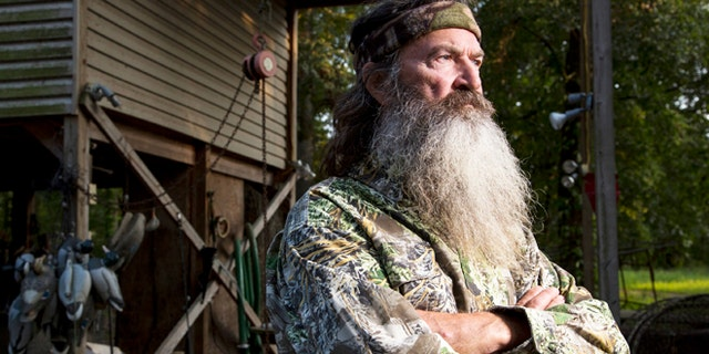 """Phil Robertson in A&E's """"Duck Dynasty."""""""