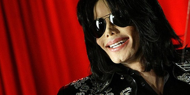 May 5: Michael Jackson at a news conference at the O2 Arena in London.