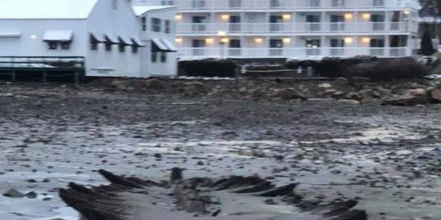 The shipwreck was previously seen after major storms rolled through the region.