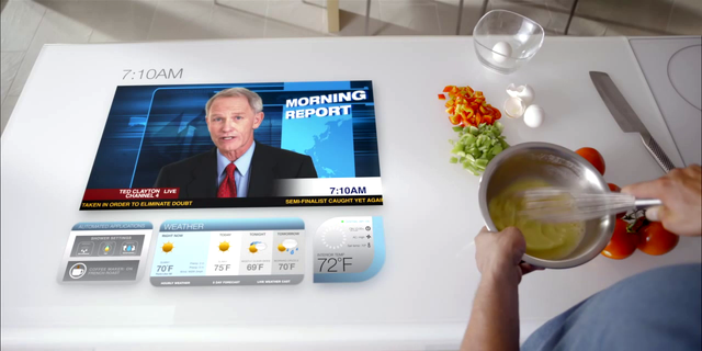 The home of the future will include computers in counter tops, according to one company's vision of what will be.